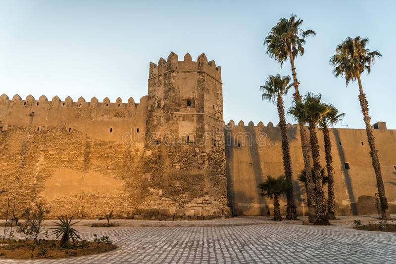 Sfax Tunisia. Tunisia Sfax city views at sunset in Ramadan stock photography