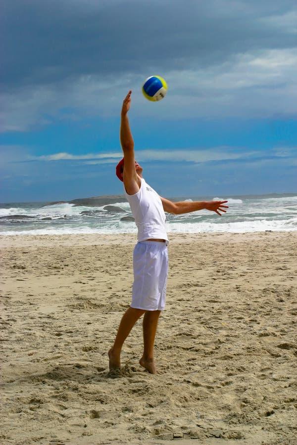Sfera 1 di scarica della spiaggia fotografia stock