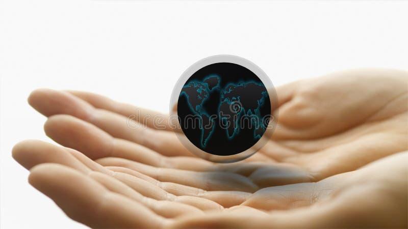 Sfera abstrakcjonistyczni logowie 3d obraz stock