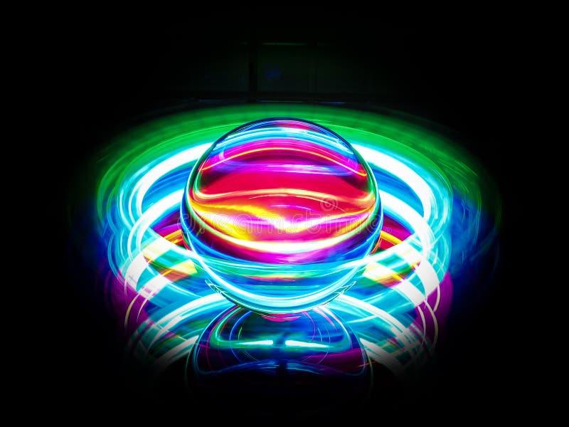 Sfera al neon multicolore fotografia stock