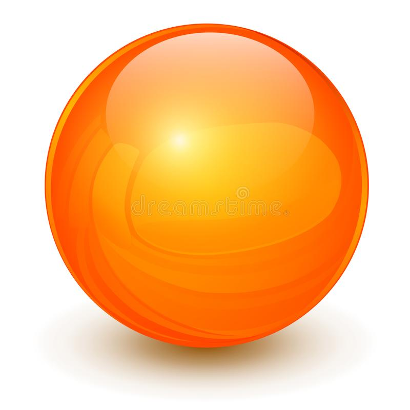 Sfera arancio 3D royalty illustrazione gratis