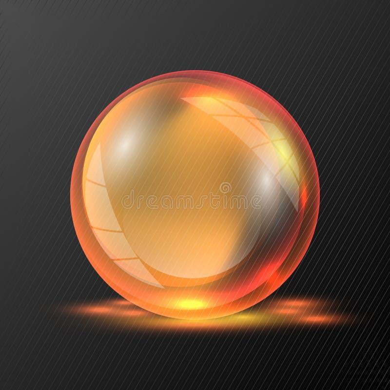 sfera arancio di vettore 3d illustrazione vettoriale