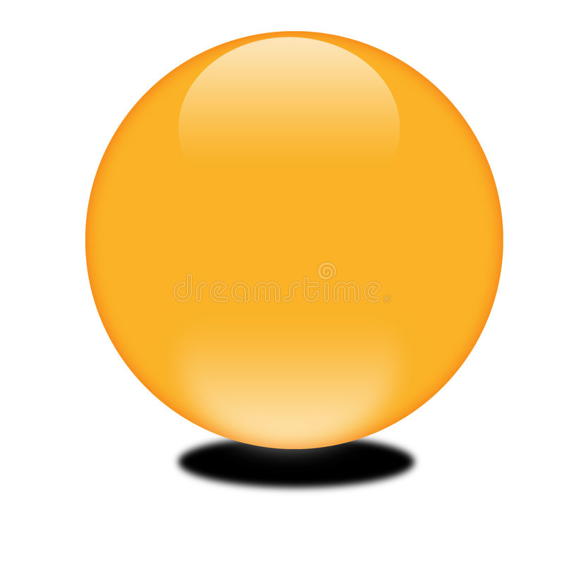 Sfera arancione 3d di ottobre illustrazione di stock