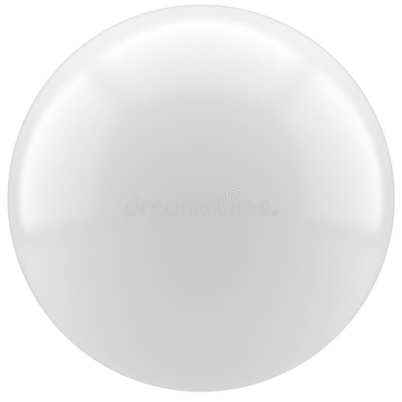 Sfera bianca della perla immagini stock libere da diritti