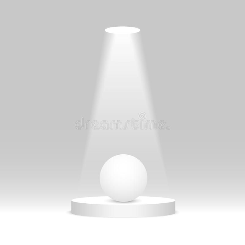 Sfera bianca sotto il riflettore Illustrazione di vettore royalty illustrazione gratis