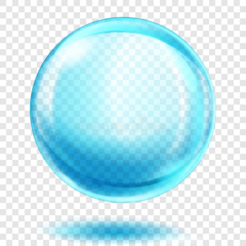 Sfera blu-chiaro trasparente illustrazione vettoriale