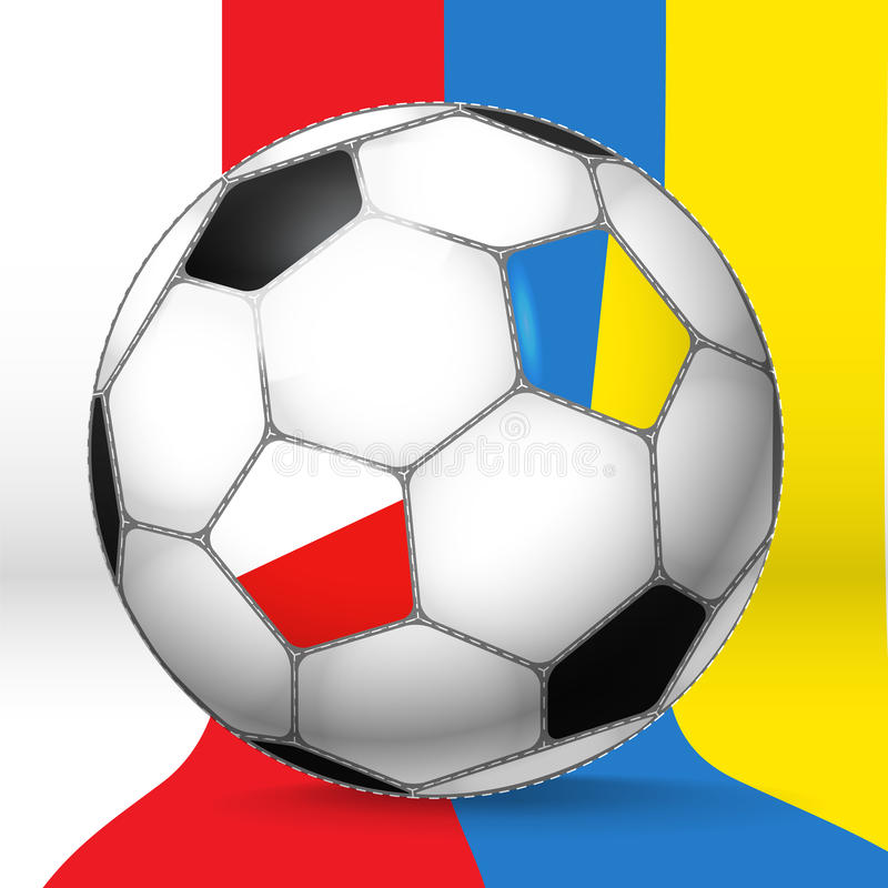 Sfera classica di gioco del calcio illustrazione di stock