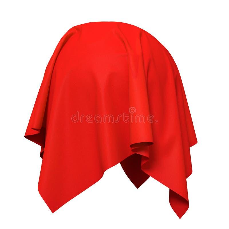 Sfera coperta di tessuto di seta rosso illustrazione di stock