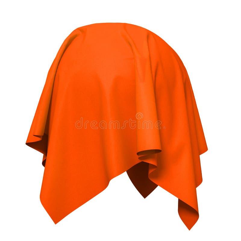 Sfera coperta di tessuto di seta rosso royalty illustrazione gratis