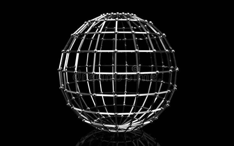 sfera 3d illustrazione vettoriale