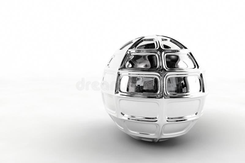 Sfera d'argento del bicromato di potassio fotografia stock libera da diritti