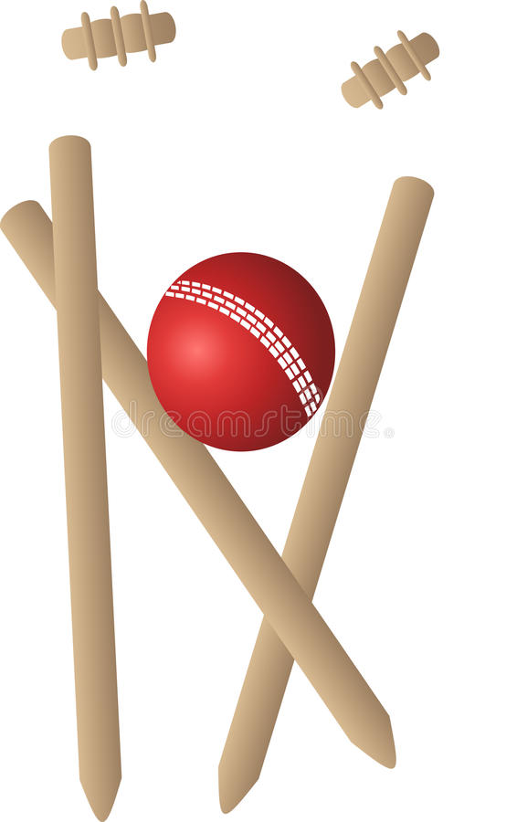 Sfera dei wicket del grillo illustrazione di stock