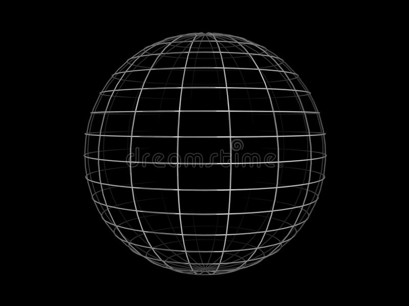 Sfera del blocco per grafici del collegare royalty illustrazione gratis