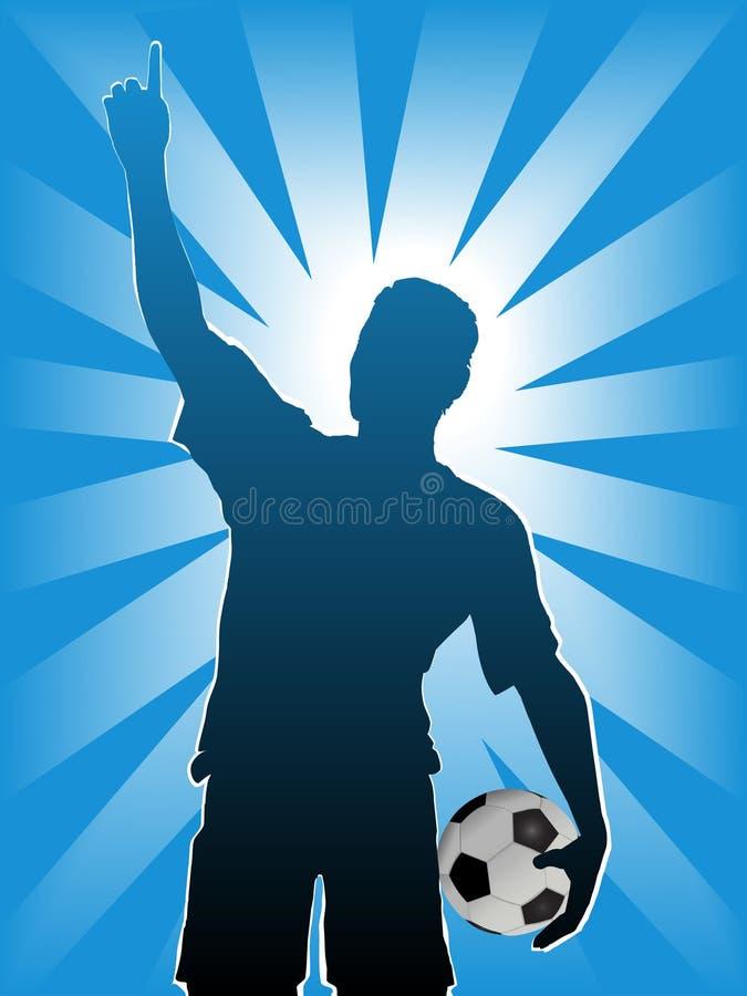 Sfera del calciatore di gioco del calcio illustrazione di stock