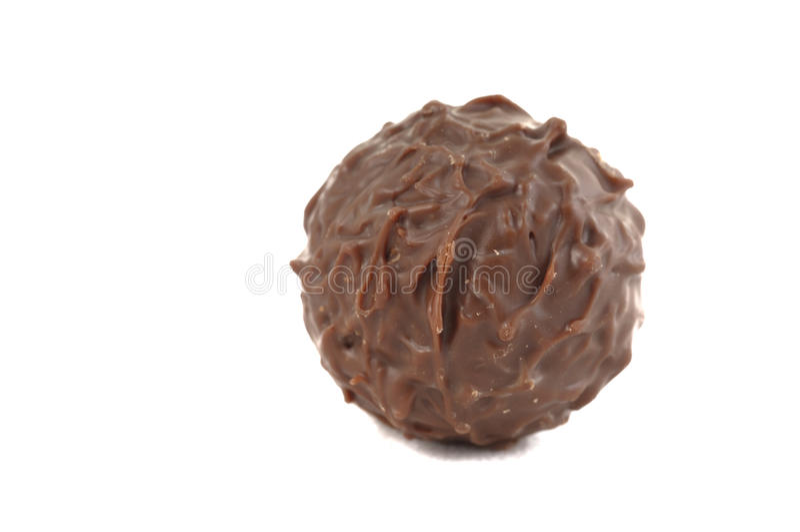 Sfera del cioccolato fotografia stock
