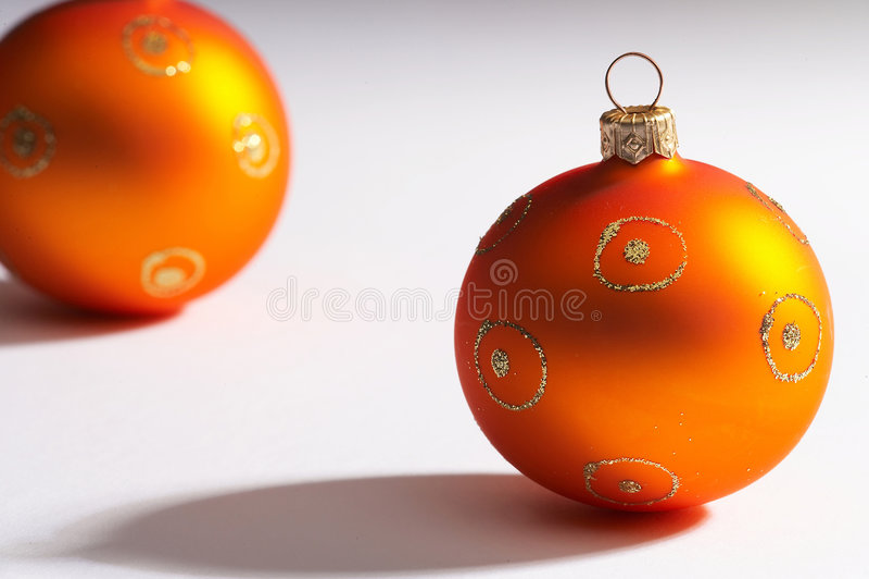 Sfera dell'albero di Natale - weihnachtskugel fotografia stock