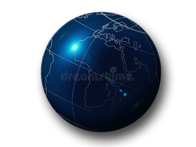 Sfera dell'azzurro della terra illustrazione di stock