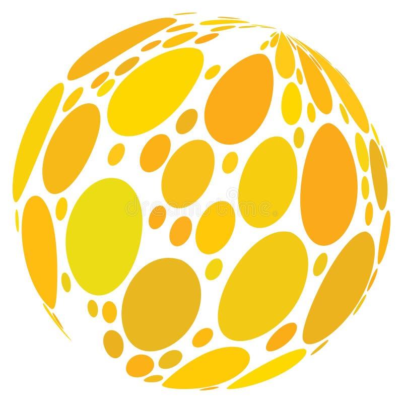 Sfera dell'estratto del punto giallo illustrazione vettoriale