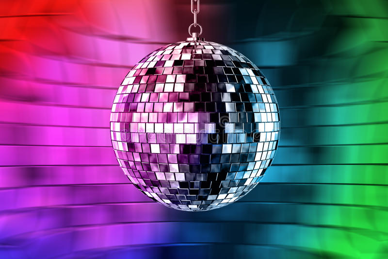 Sfera della discoteca con gli indicatori luminosi royalty illustrazione gratis