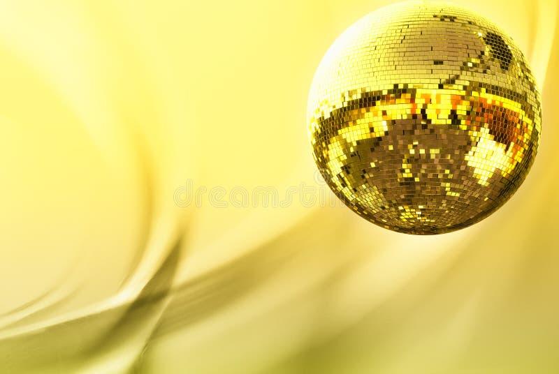 Sfera della discoteca dell'oro fotografia stock