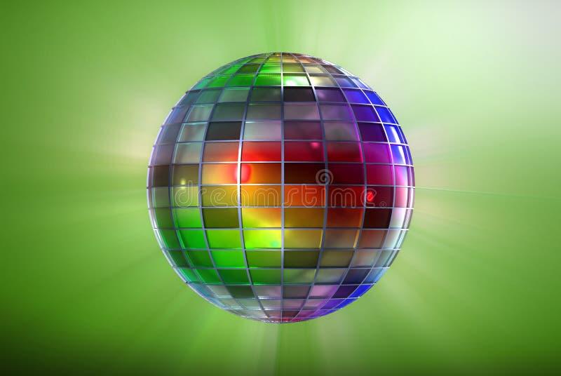 Sfera della discoteca di colore illustrazione vettoriale