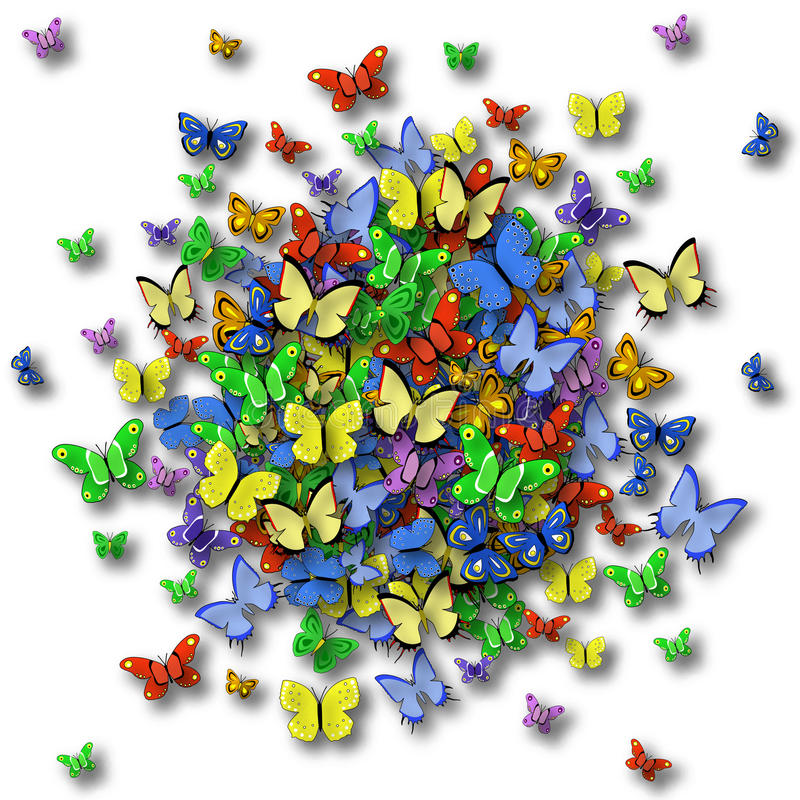 Sfera della farfalla royalty illustrazione gratis