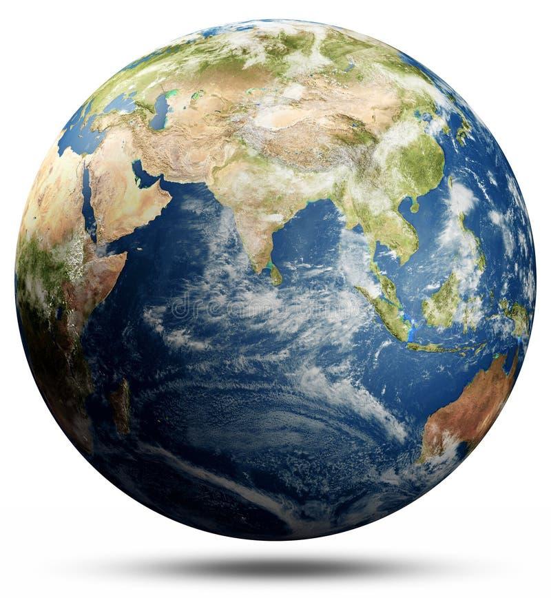Sfera della mappa di mondo illustrazione di stock
