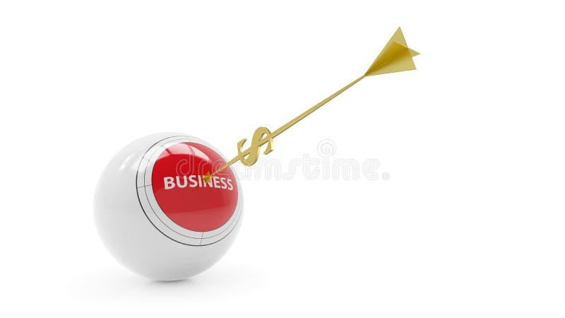 Download Sfera Di Affari Obiettivo Freccia Dorata - Dollaro Immagine Stock - Immagine di punto, perfetto: 55363729