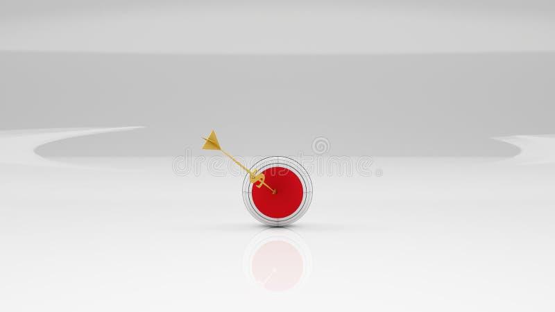 Download Sfera Di Affari Obiettivo Freccia Dorata - Dollaro Illustrazione di Stock - Illustrazione di freccia, obiettivo: 55365504