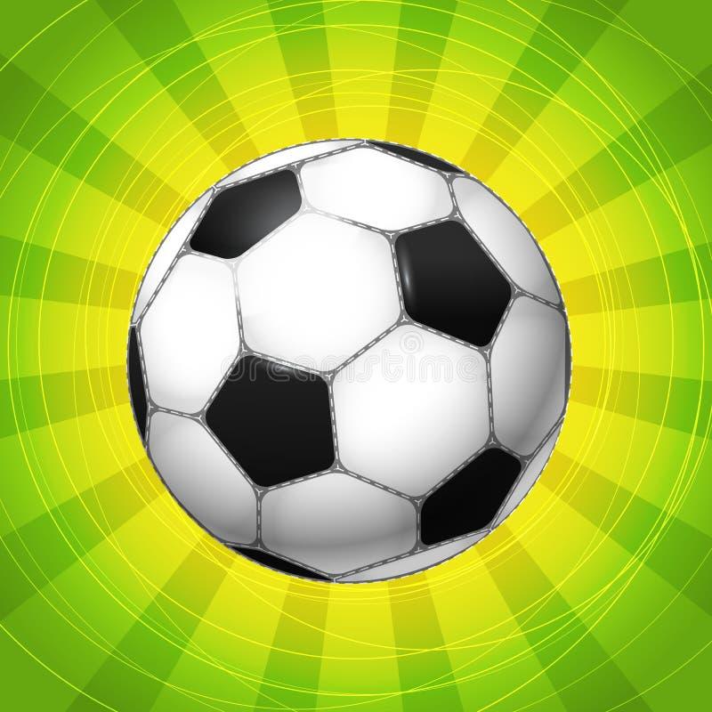 Sfera di calcio classica illustrazione di stock