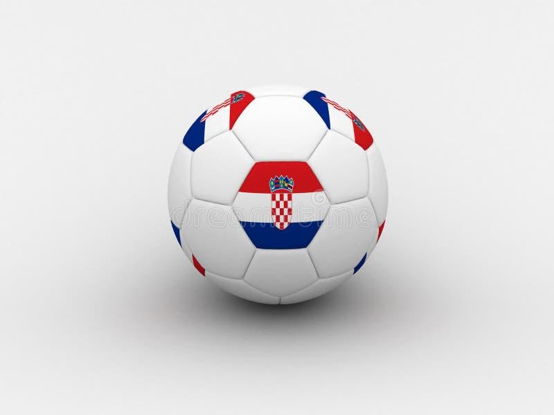 Sfera di calcio del Croatia illustrazione di stock