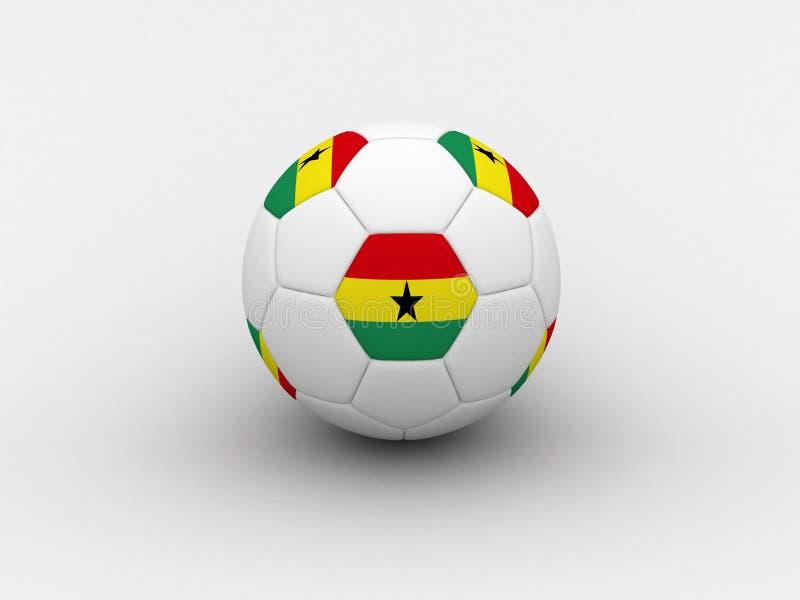 Sfera di calcio del Ghana royalty illustrazione gratis