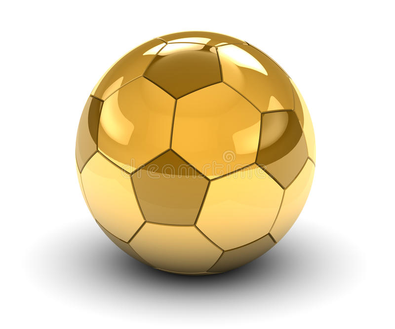 Sfera di calcio dorata illustrazione vettoriale