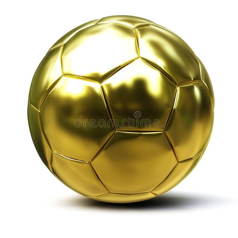 Sfera di calcio dorata royalty illustrazione gratis