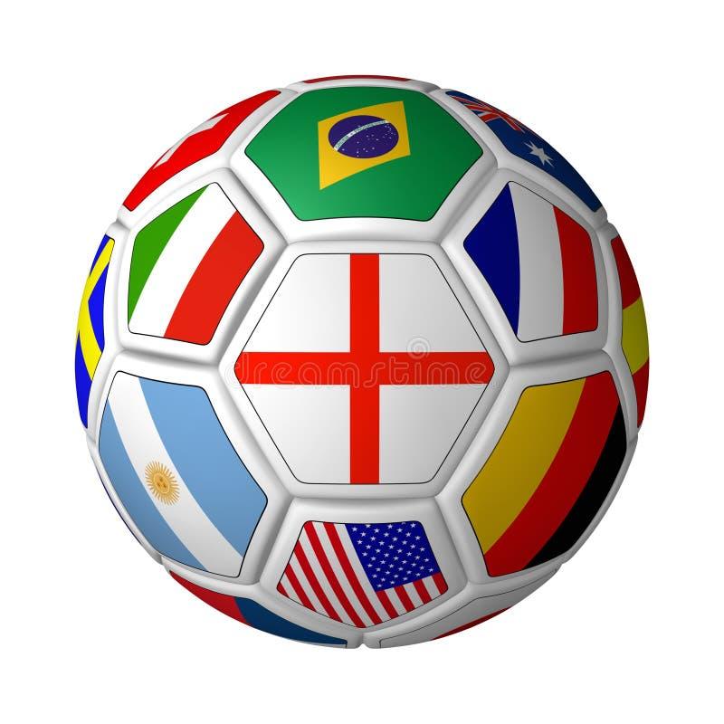 Sfera di calcio inbandierata royalty illustrazione gratis