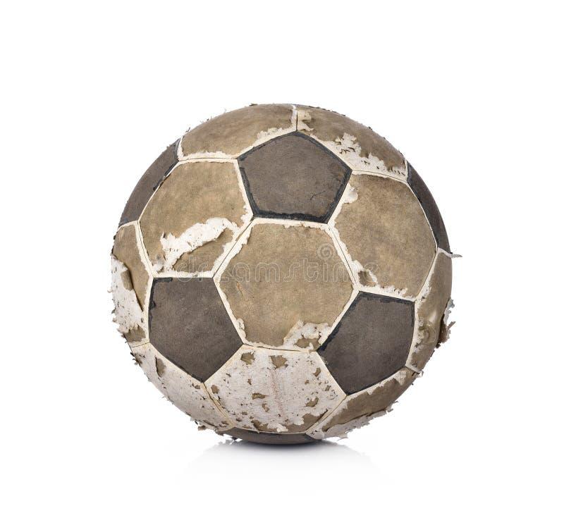 Sfera di calcio isolata su priorità bassa bianca immagine stock