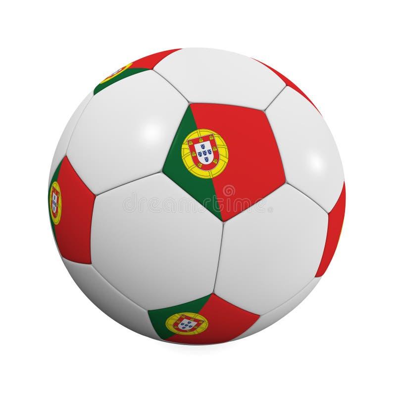 Sfera di calcio portoghese illustrazione di stock
