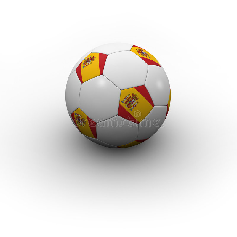 Sfera di calcio spagnola illustrazione di stock