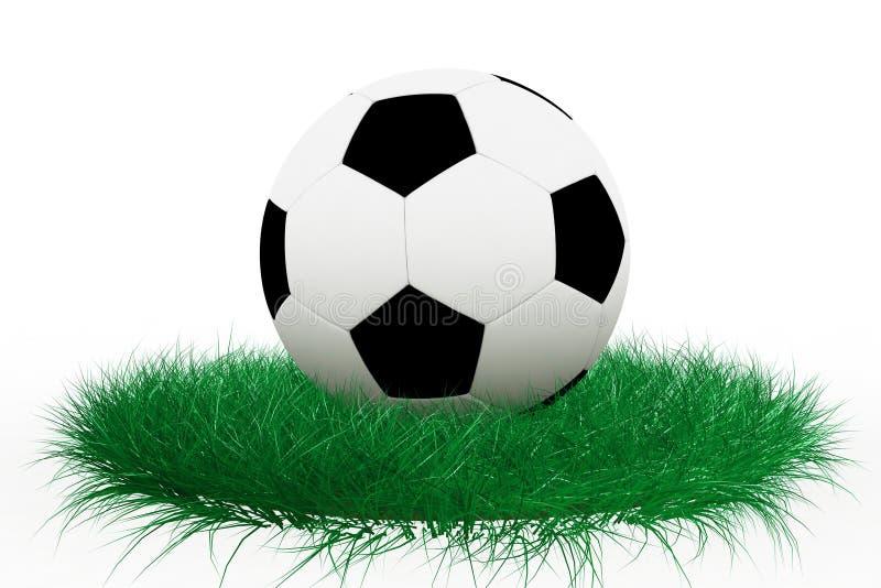 Sfera di calcio su erba royalty illustrazione gratis