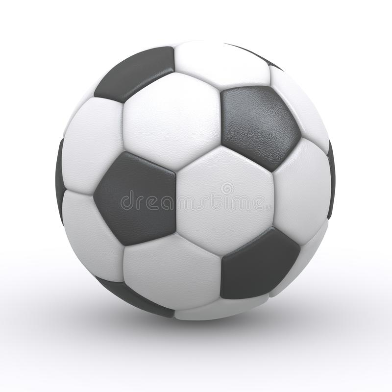 Sfera di calcio su priorità bassa bianca fotografia stock libera da diritti