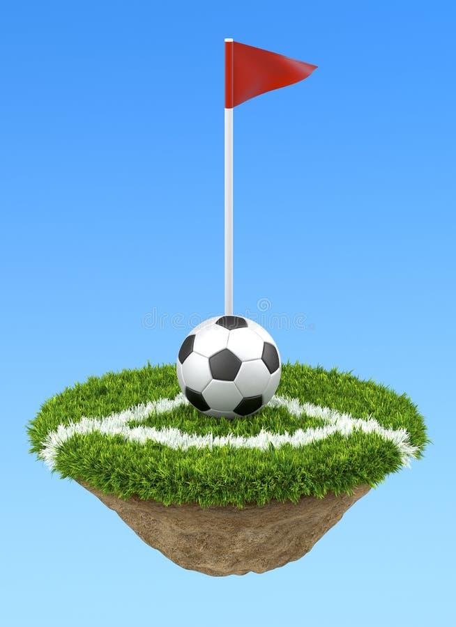 Sfera di calcio sull'angolo royalty illustrazione gratis