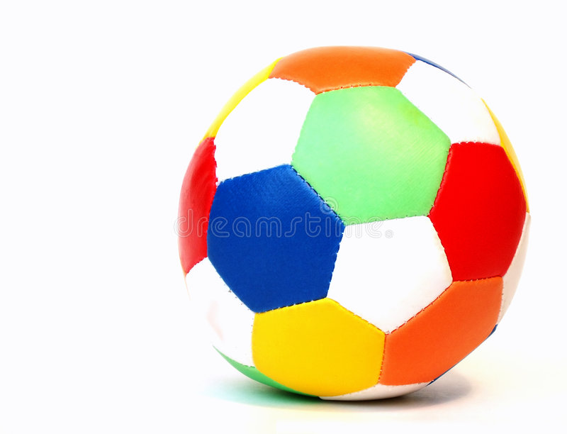 Sfera di calcio variopinta immagine stock