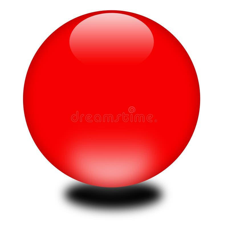 sfera di colore rosso di festa 3d illustrazione di stock