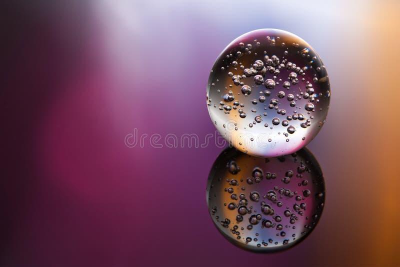 Sfera di cristallo magica fotografia stock