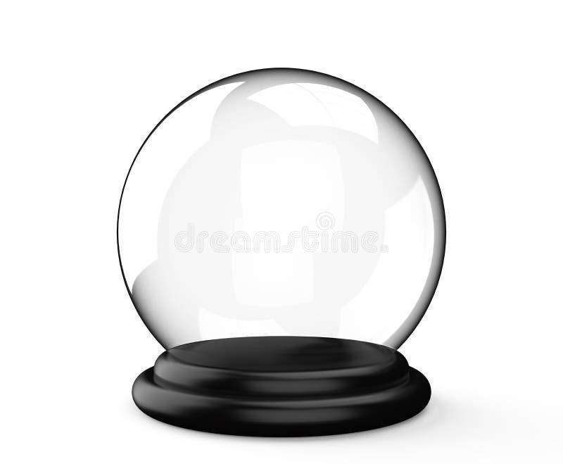 Sfera di cristallo magica su fondo bianco illustrazione vettoriale