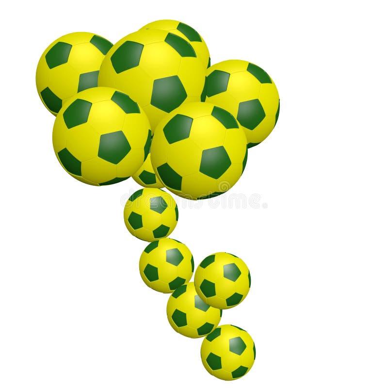 Sfera di gioco del calcio fatta come simbolo del fiore illustrazione vettoriale