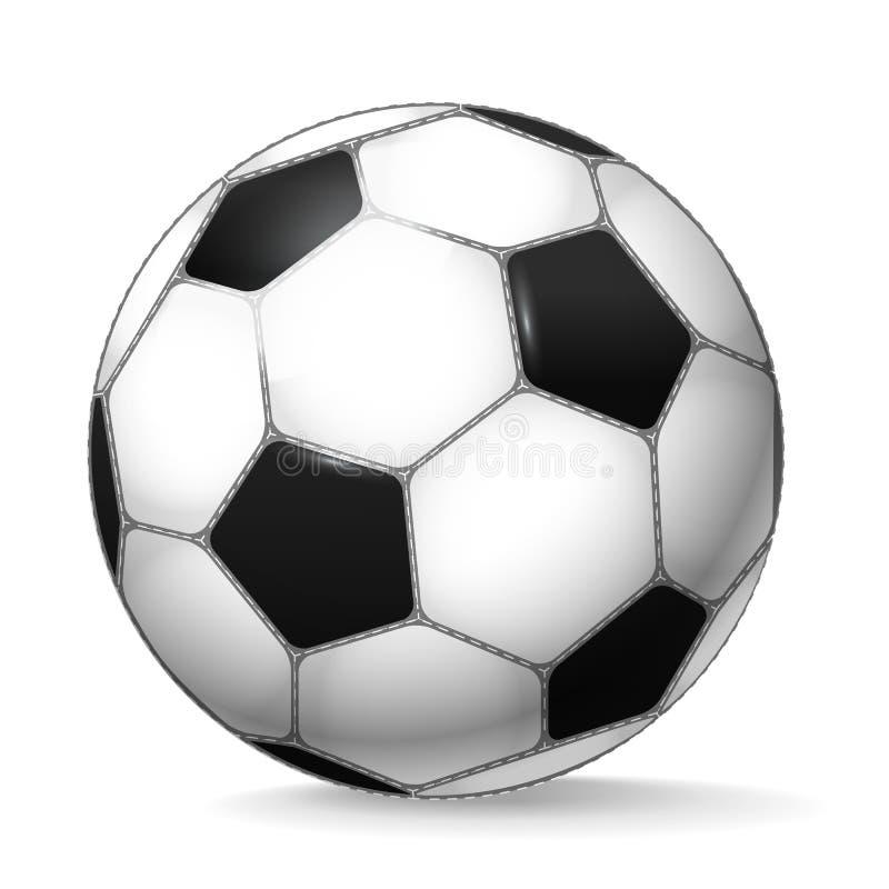 Sfera di gioco del calcio su bianco royalty illustrazione gratis