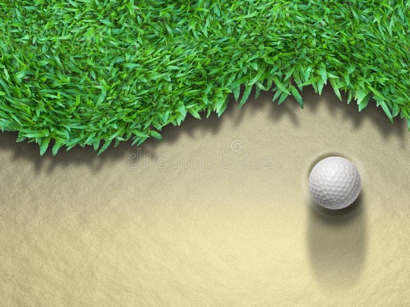 Sfera di golf illustrazione vettoriale