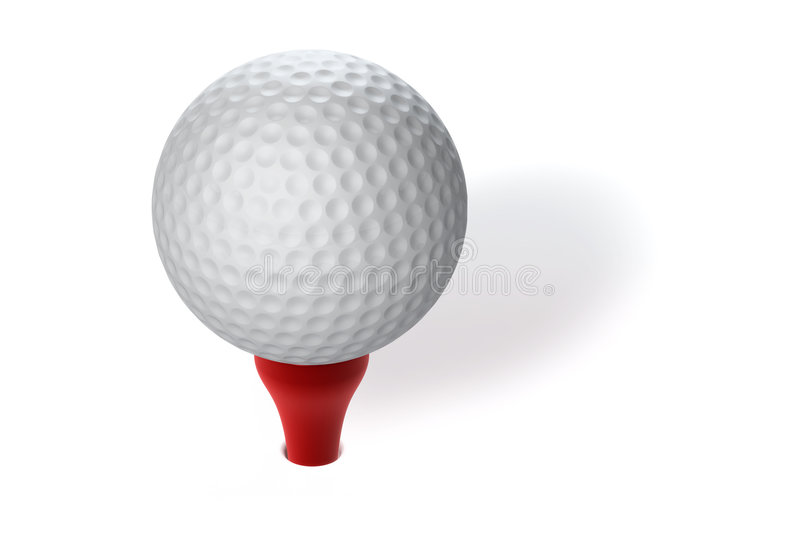Sfera di golf illustrazione di stock