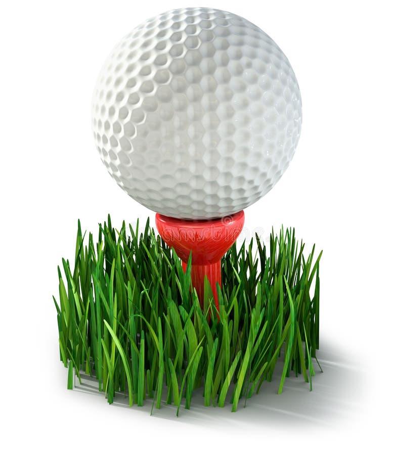 Sfera di golf illustrazione di stock